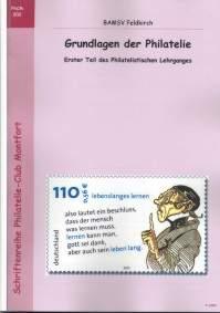 Book Cover: Grundlagen der Philatelie Erster Teil des Philatelistischen Lehrganges - BAMSV Feldkirch