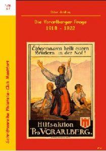 Book Cover: Die Vorarlberger Frage 1918-1922 - Oskar Schilling