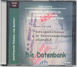 Book Cover: Zivilpost-Zensur in Österreich-Ungarn 1914-1918 - Oskar Schilling